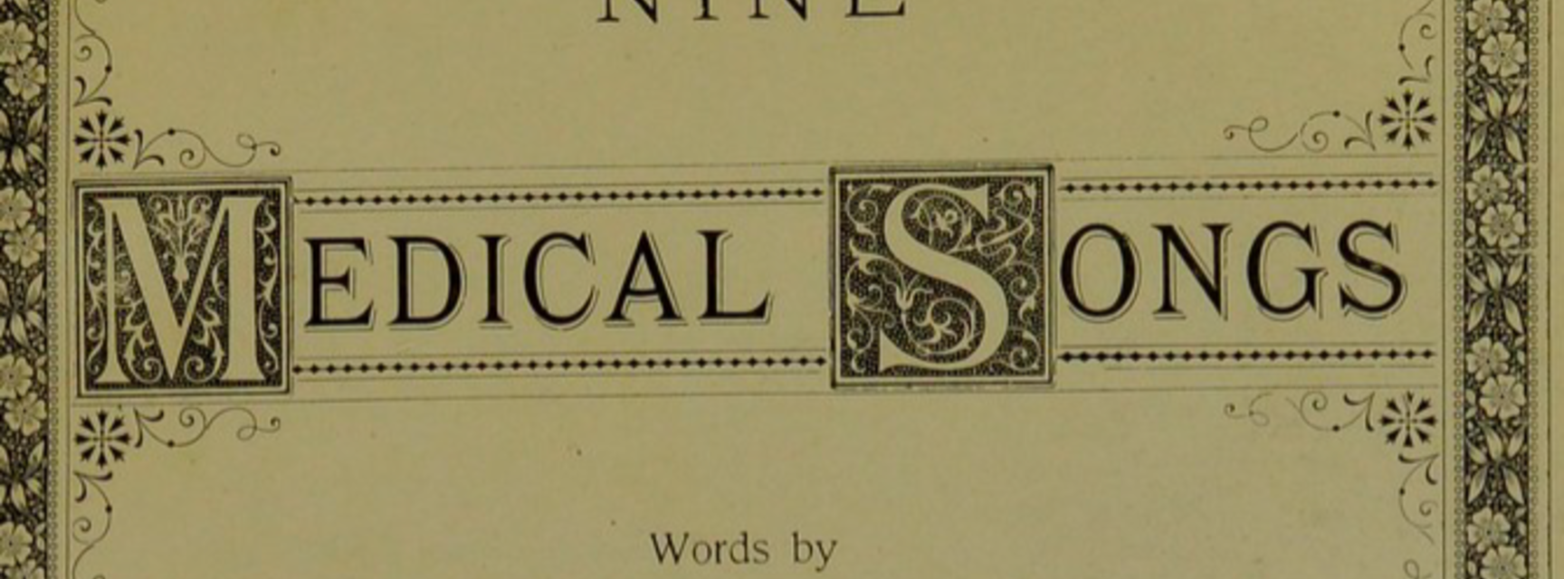nine medical songs title page