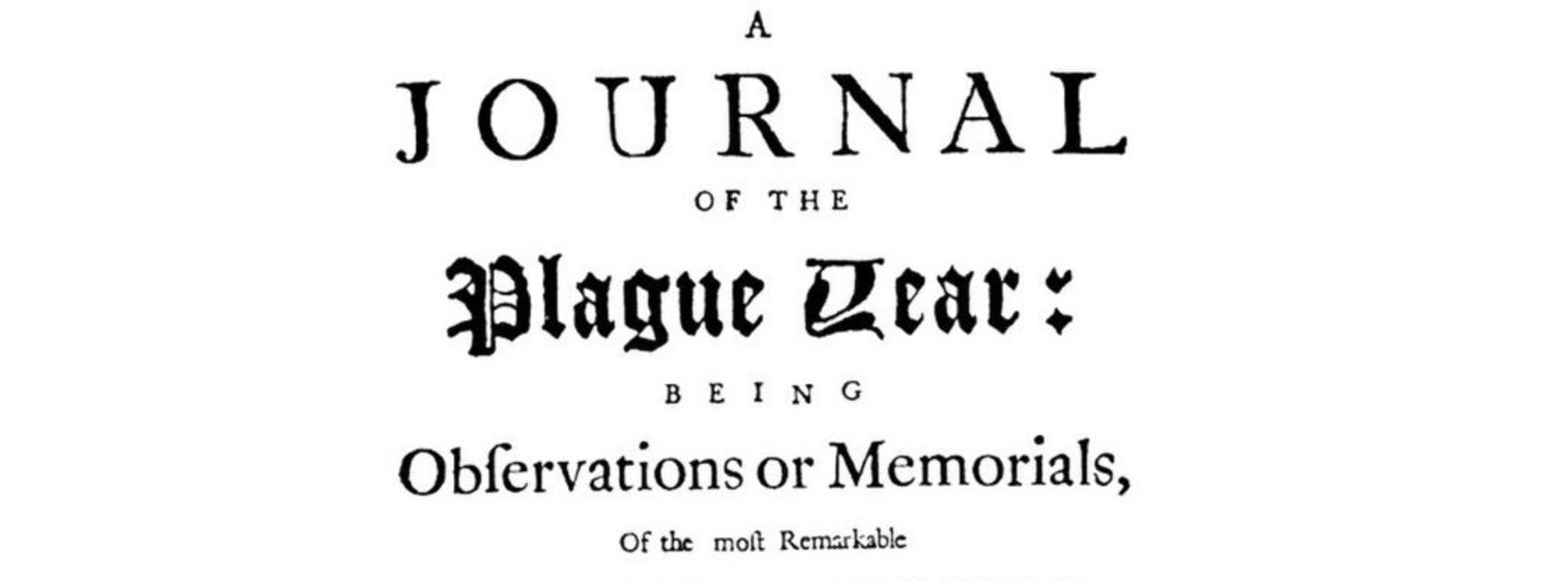 Title page of Defoe's journal of the plague year